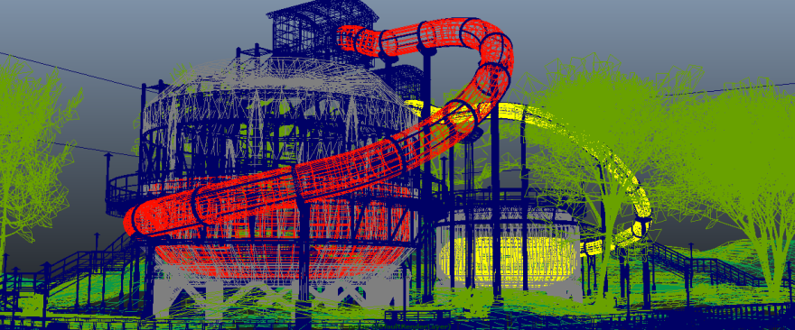 Work-in-progress wireframe of tank bowl slides