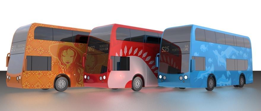 Bus wrap designs
